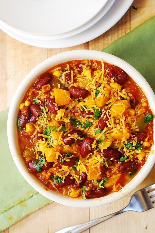 best chili recipe, best butternut squash chili, comfort food recipes, winter foods