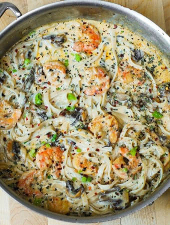 Creamy Shrimp Pasta with Mushrooms