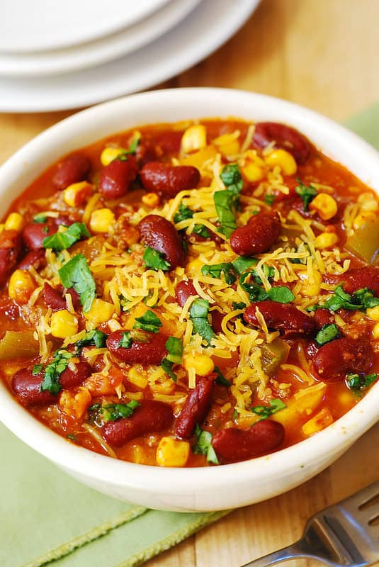 Butternut Squash, Bean, and Beef Chili