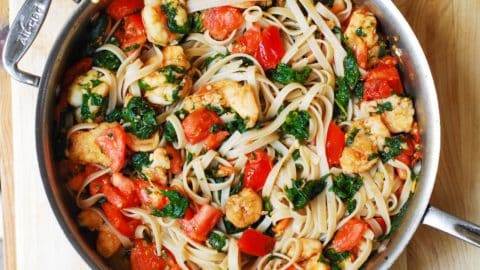 Shrimp Tomato Spinach Pasta In Garlic Butter Sauce Julia S Album