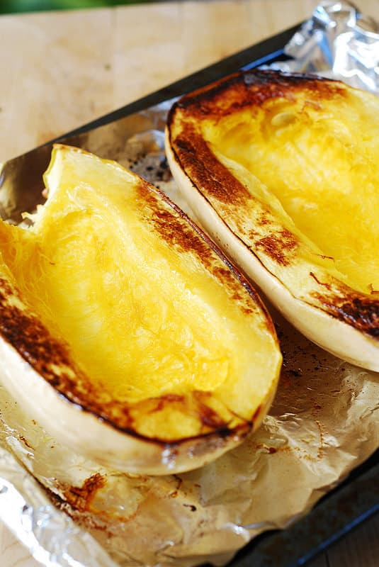 Roasting spaghetti squash in the oven