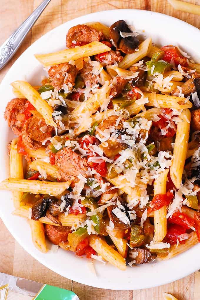 Italian Sausage Pasta with Vegetables - Julia's Album