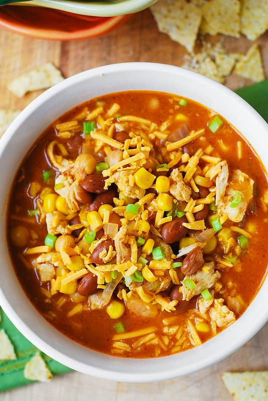 White Chicken Chili With Pinto Beans And Chickpeas Julia
