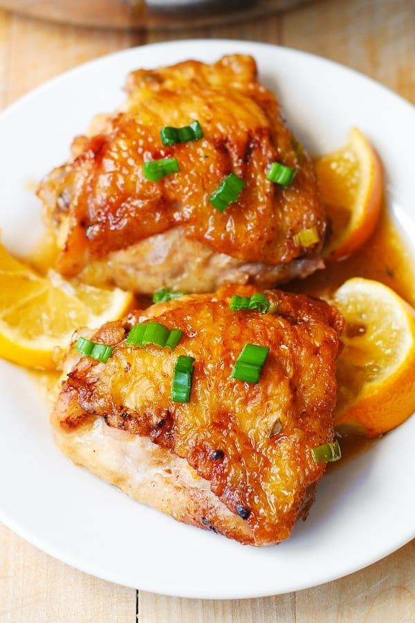 chicken dinner, skin-on bone-in chicken thighs recipe, gluten free recipes