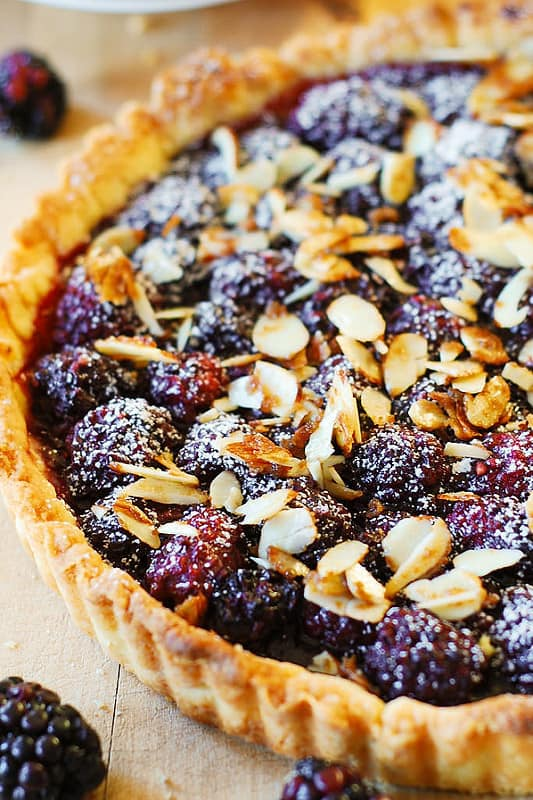 Blackberry Tart with Toasted Almonds