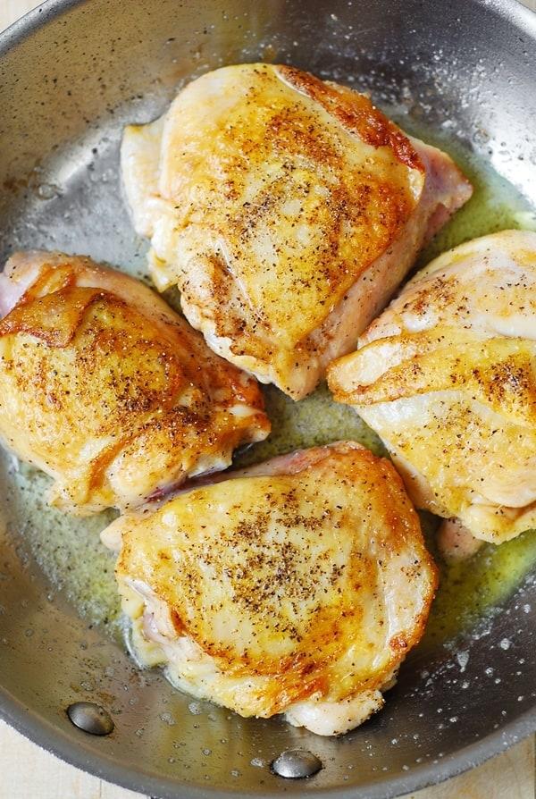 gluten free dinner, chicken recipes, how to cook chicken thighs