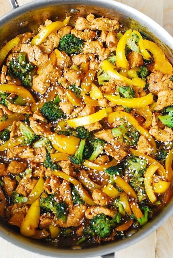 Chicken Broccoli And Bell Pepper Stir Fry Julia S Album