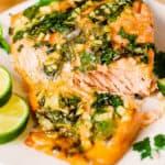 cilantro lime salmon with garlic