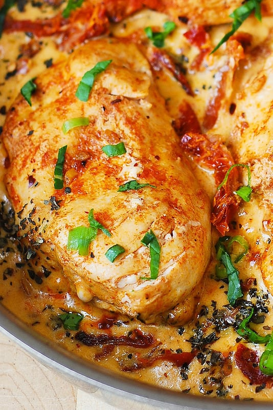 Chicken Breast With Creamy Sun Dried Tomato Sauce Julia