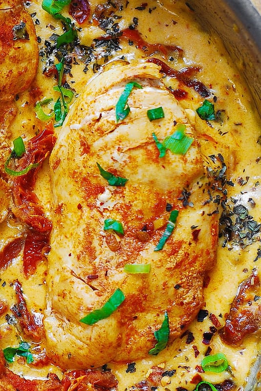 Skinless, boneless Chicken Breast with Creamy Sun-Dried Tomato Sauce
