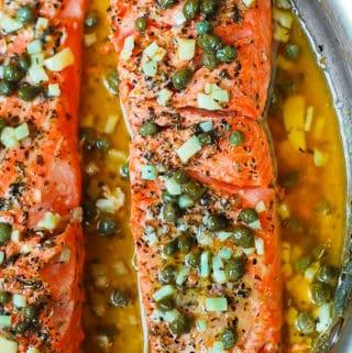 Steelhead Trout Recipe with Lemon Caper Sauce