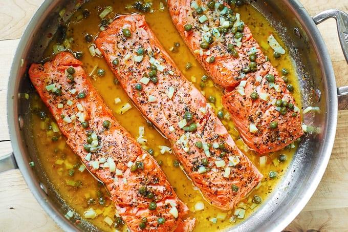 lemon caper sauce for steelhead trout