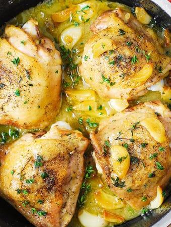 Garlic Thyme Chicken Thighs