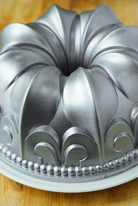 the other side of empty bundt pan