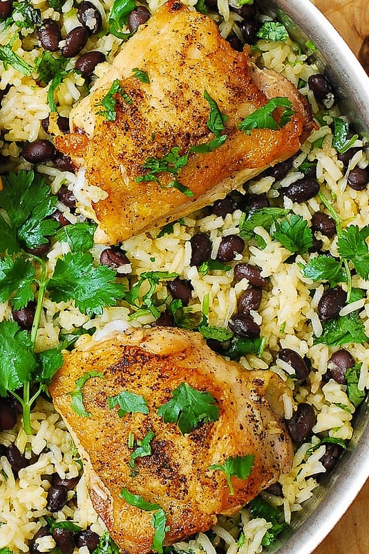 one pot chicken dinners, easy chicken rice, healthy rice recipes, how to cook rice