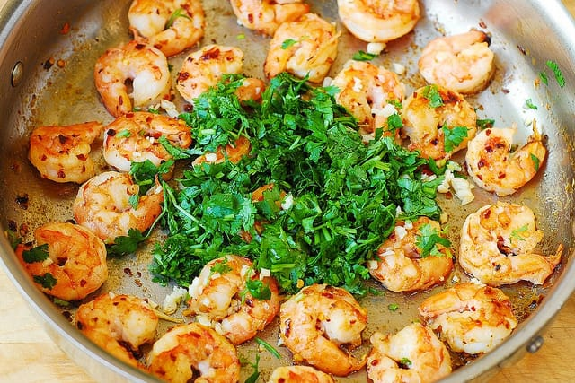 cilantro shrimp, seafood pasta, best shrimp recipes, healthy shrimp