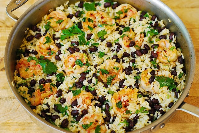 jasmine rice with shrimp