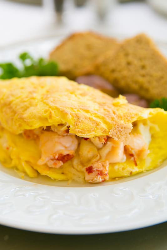 lobster omelet breakfast