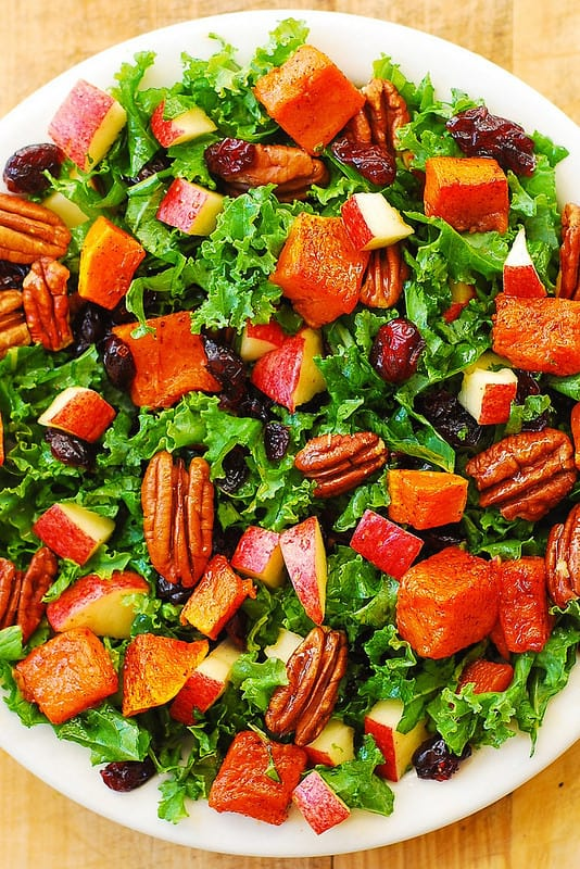 Butternut Squash, Kale, Pecan, Cranberry, Apple Salad