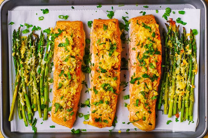 Parmesan Salmon and Asparagus