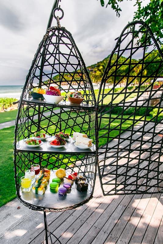bird cage afternoon tea on the beach in Thailand