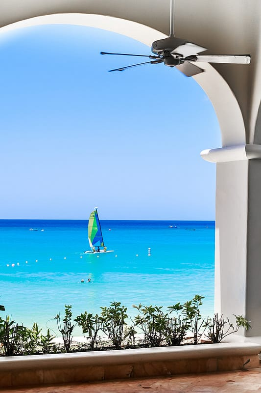 turquoise water in the Caribbean, Amazing Dinner with the View in Barbados, best restaurants with the view, best restaurants in Barbados, boat in Barbados