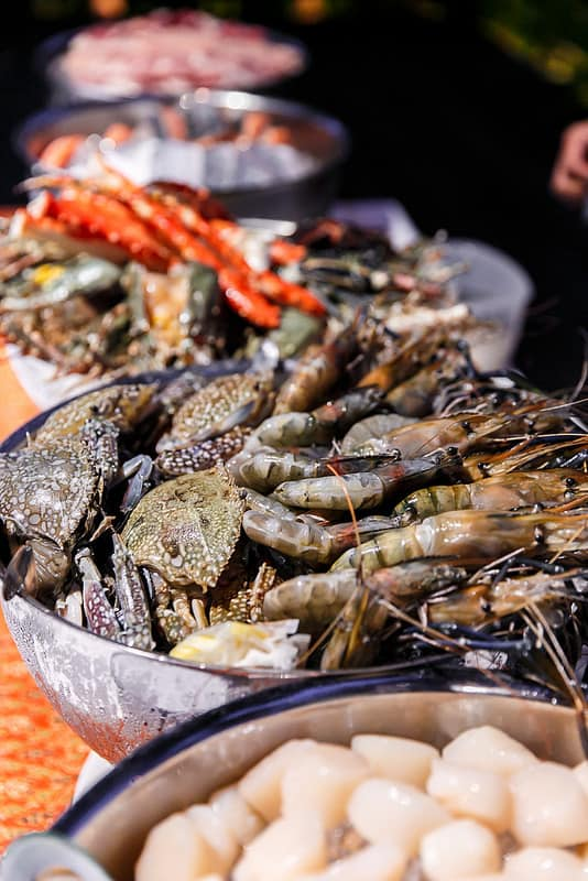 crab, giant shrimp, tiger prawn, seafood, Ko Samui, Thailand, Starwood hotels and resorts, the luxury collection, SPG, SPG life