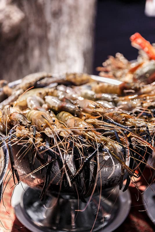 giant shrimp, tiger prawns, best food in Thailand, best seafood in Ko Samui