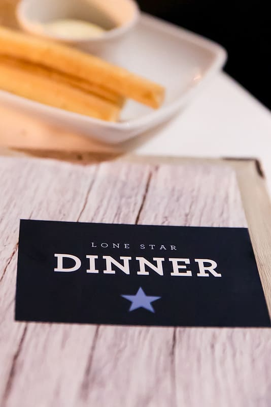 dinner menu at Lone Star in Barbados, Caribbean food in Barbados