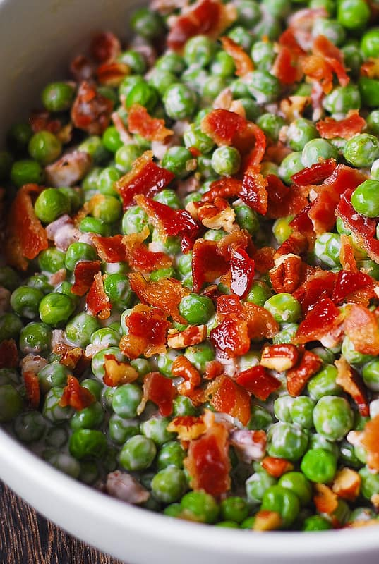 Pea, Bacon, Pecan Salad