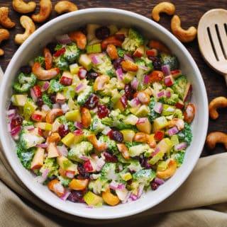 broccoli cashew apple pear salad