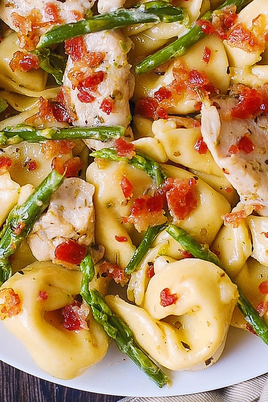 easy chicken dinner, best chicken dinners, best pasta dinners, easy pasta dinner recipe, asparagus pasta dinner