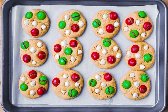 cookies for Santa, Christmas cookies, cookies with m&ms