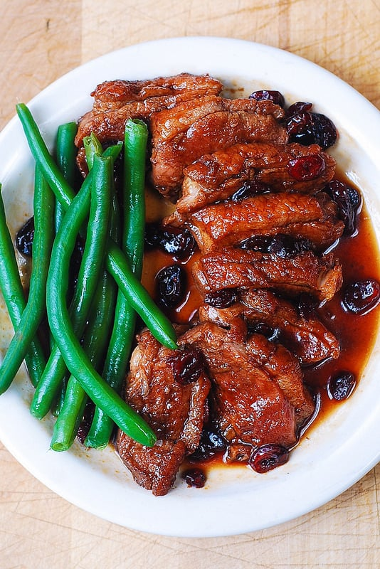 cooking duck breast, duck breast with green beans