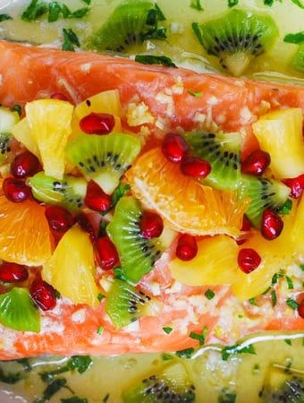 Garlic Lime Salmon with Pineapple Salsa