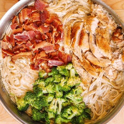 Chicken Broccoli Pasta With Bacon - Julias Album-7644