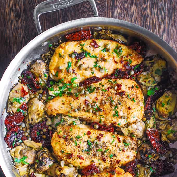 Mediterranean Chicken With Sun Dried Tomatoes And Artichokes Julia S Album