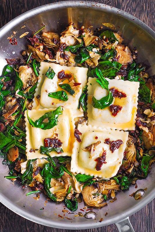 spinach ravioli recipe, easy ravioli recipe, how to cook ravioli