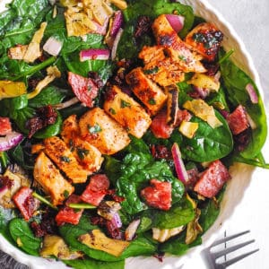 Italian Salad with Chicken, Spinach, Artichokes