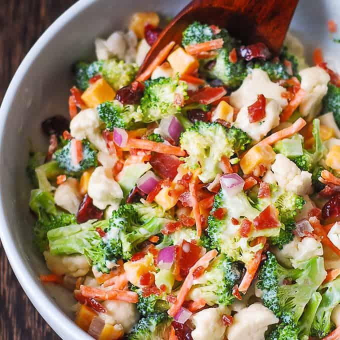 Creamy Broccoli And Cauliflower Salad Julia S Album