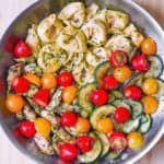 Chicken and Zucchini Basil Pesto Tortellini