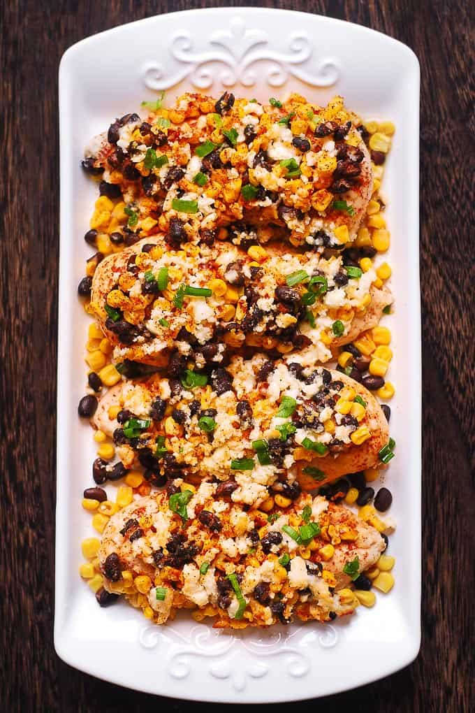 Mexican Street Corn Black Bean Chicken Bake