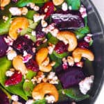 Beet Salad with Spinach and Cashews