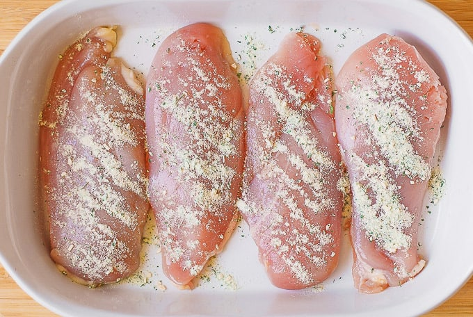 chicken breasts with Ranch seasoning mix