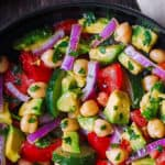 Chickpea Salad with Avocado, Cucumber, Tomatoes