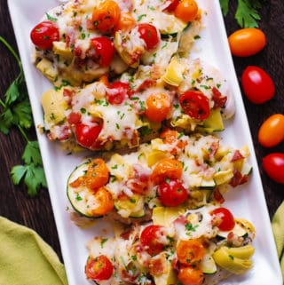 baked Italian chicken and vegetables