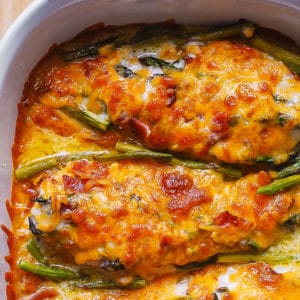 chicken asparagus bake with bacon and Ranch