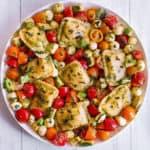 Pesto Ravioli with Vegetables