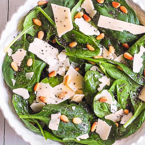 simple spinach salad