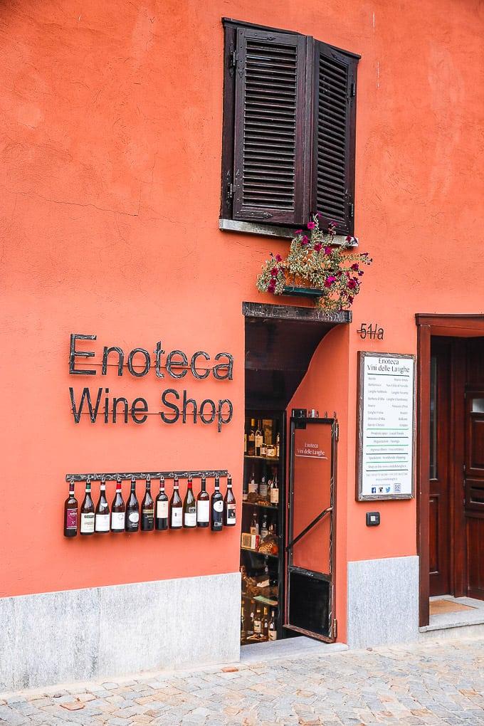 Enoteca Wine Shop in Barolo, Piedmont